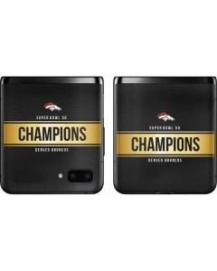 Denver Broncos Super Bowl 50 Champions Black Galaxy Z Flip Skin