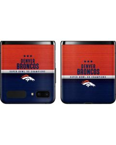 Denver Broncos Super Bowl 50 Champions Galaxy Z Flip Skin
