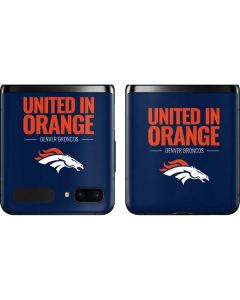 Denver Broncos Team Motto Galaxy Z Flip Skin