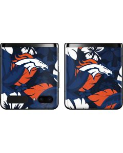 Denver Broncos Tropical Print Galaxy Z Flip Skin