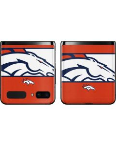 Denver Broncos Zone Block Galaxy Z Flip Skin