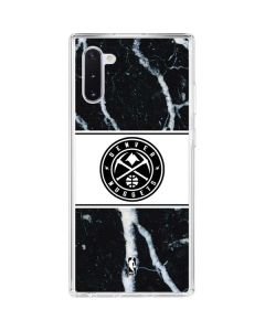 Denver Nuggets Marble Galaxy Note 10 Clear Case