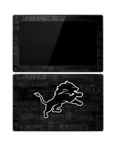 Detroit Lions Black & White Surface RT Skin