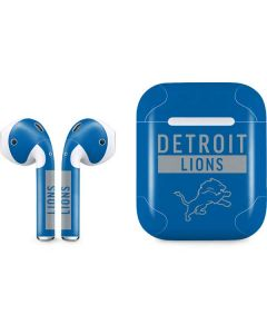 Detroit Lions Blue Performance Series Apple AirPods Skin