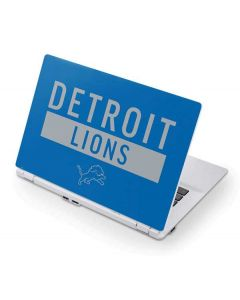 Detroit Lions Blue Performance Series Acer Chromebook Skin