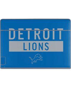 Detroit Lions Blue Performance Series Galaxy Book Keyboard Folio 12in Skin