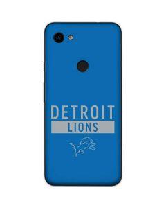 Detroit Lions Blue Performance Series Google Pixel 3a Skin