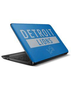 Detroit Lions Blue Performance Series HP Notebook Skin