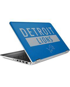 Detroit Lions Blue Performance Series HP Pavilion Skin