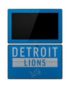 Detroit Lions Blue Performance Series Surface RT Skin