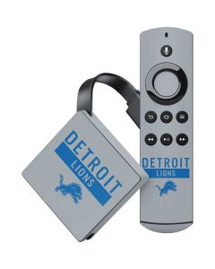 Detroit Lions Grey Performance Series Amazon Fire TV Skin