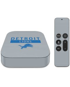 Detroit Lions Grey Performance Series Apple TV Skin
