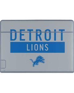 Detroit Lions Grey Performance Series Galaxy Book Keyboard Folio 12in Skin
