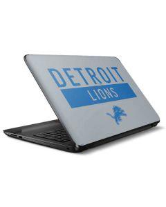 Detroit Lions Grey Performance Series HP Notebook Skin