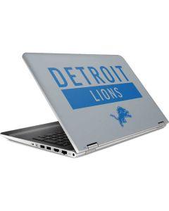 Detroit Lions Grey Performance Series HP Pavilion Skin