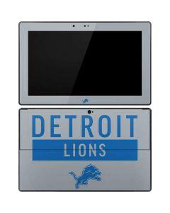 Detroit Lions Grey Performance Series Surface RT Skin