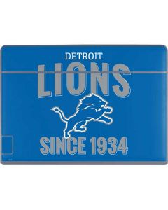 Detroit Lions Helmet Galaxy Book Keyboard Folio 12in Skin