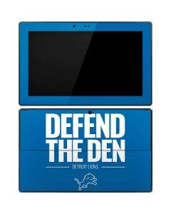 Detroit Lions Team Motto Surface RT Skin