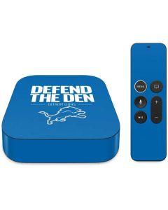 Detroit Lions Team Motto Apple TV Skin