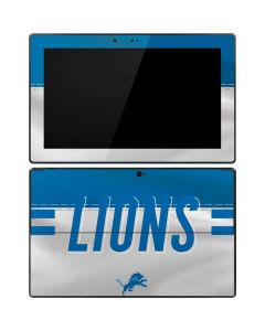 Detroit Lions White Striped Surface RT Skin