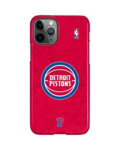 Detroit Pistons Distressed iPhone 11 Pro Lite Case