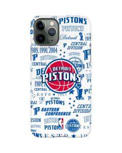 Detroit Pistons Historic Blast iPhone 11 Pro Lite Case