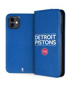 Detroit Pistons Standard - Blue iPhone 11 Folio Case