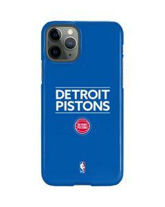 Detroit Pistons Standard - Blue iPhone 11 Pro Lite Case