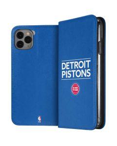 Detroit Pistons Standard - Blue iPhone 11 Pro Max Folio Case