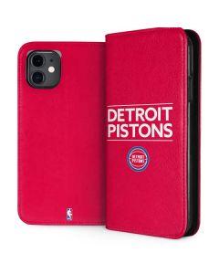 Detroit Pistons Standard - Red iPhone 11 Folio Case