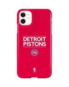 Detroit Pistons Standard - Red iPhone 11 Lite Case