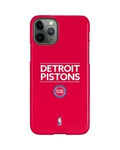Detroit Pistons Standard - Red iPhone 11 Pro Lite Case