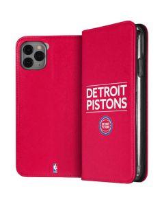 Detroit Pistons Standard - Red iPhone 11 Pro Max Folio Case