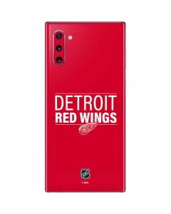 Detroit Red Wings Lineup Galaxy Note 10 Skin