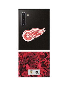 Detroit Red Wings Retro Tropical Print Galaxy Note 10 Skin