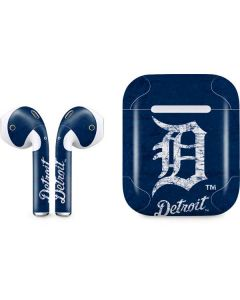 Detroit Tigers - Solid Distressed Apple AirPods Skin
