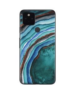 Turquoise Watercolor Geode Google Pixel 4a 5G Skin