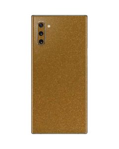 Diamond Gold Glitter Galaxy Note 10 Skin
