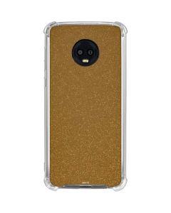 Diamond Gold Glitter Moto G6 Clear Case
