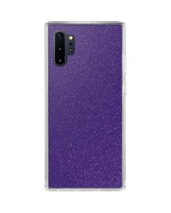 Diamond Purple Glitter Galaxy Note 10 Plus Clear Case