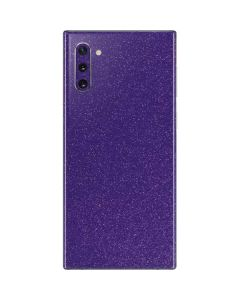 Diamond Purple Glitter Galaxy Note 10 Skin