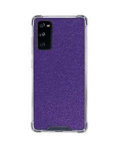 Diamond Purple Glitter Galaxy S20 FE Clear Case