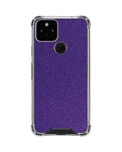 Diamond Purple Glitter Google Pixel 5 Clear Case