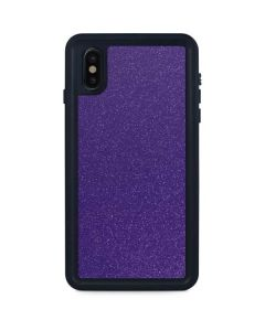 Diamond Purple Glitter iPhone XS Max Waterproof Case
