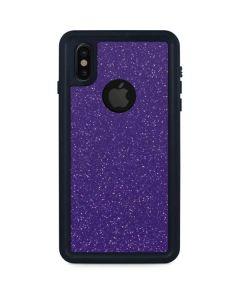 Diamond Purple Glitter iPhone XS Waterproof Case