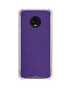 Diamond Purple Glitter Moto G6 Clear Case