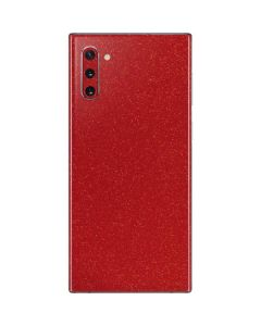 Diamond Red Glitter Galaxy Note 10 Skin
