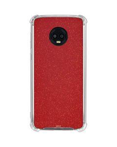 Diamond Red Glitter Moto G6 Clear Case