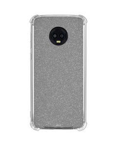 Diamond Silver Glitter Moto G6 Clear Case