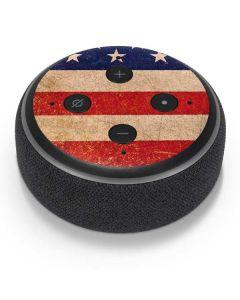 Distressed American Flag Amazon Echo Dot Skin